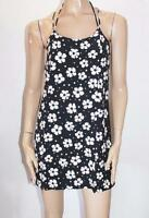 ATMOSPHERE Designer Black Cream Floral Sleeveless Day Dress Size 10-S BNWT #TB94