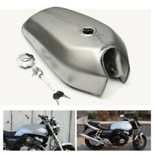 2.4 Gal Motorcycle Fuel Gas Tank For Honda CG125 Cafe Racer Bare Steel Universal
