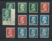 PASTEUR - 1923-26 YT 170 à 181 - TIMBRES NEUFS** MNH LUXE