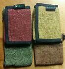 Vegetable Dye Hemp Wallet ... GO GREEN!