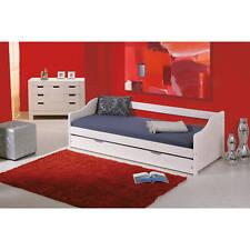 Bett 90x190 cm Kinderbett Funktionsbett Kojenbett Massivholzbett Gästebett weiß