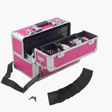 anndora Beautycase Kosmetikkoffer Pink Aluminium Make up Case abschließbar
