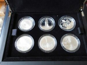 ROYAL MINT 2018 UK £5 SILVER PROOF 6 COIN SET THE 100th ANNIVERSARY OF WW1