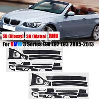 RHD Carbon Fiber Interior Sticker Vinyl For BMW 3 Series E90 E92 E93  !! L