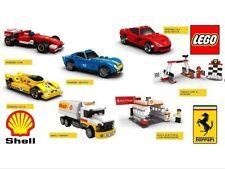 Lego Ferrari Shell V Power full set of 7 inc tanker! Rare NEW Sealed Exclusive!