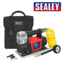 Sealey MAC04 12 V bicicleta de coche pesado Plugin Digital Neumático Inflador Bomba de Aire Compresor