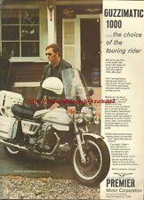 Moto Guzzi Guzzimatic Motorcycle 1978 Magazine Advert#2106