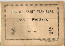 Poitiers,livre de photos Collège St Stanislas.1928-1929.24 Photos au total. RARE