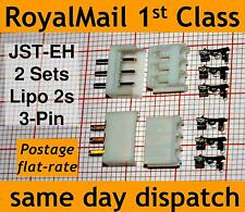 2x JST-EH connector plug Male+Female+Crimps for Lipo 2s Balance Extension Tamiya