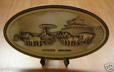 NICE CHINA  CHARIOT & HORSES  100% BRONZE