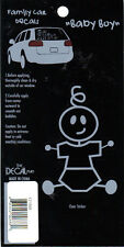 Family Car Decals Stick Figure - Baby Boy Son - The Decal Man #121888 *New