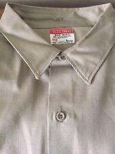 Mens VTG 70s Big Mac Penneys Khaki Gabardine Work Wear Shirt Long Sleeve
