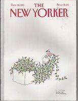 DEC 14 1981 THE NEW YORKER magazine CHRISTMAS LIGHTS