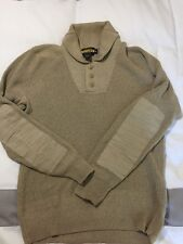 Rare Men's Rugby By Ralph Lauren Tan Knit Long Sleeve Pullover Sweater Medium
