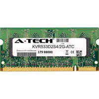 2GB DDR2 PC2-4200 533MHz SODIMM (Kingston KVR533D2S4/2G Equivalent) Memory RAM