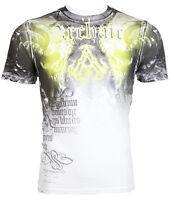 Archaic AFFLICTION Mens T-Shirt NIGHTWATCHER Skulls Tattoo Biker UFC M-3XL $40 e