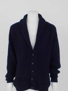 Pringle of Scotland chunky knit cashmere cardigan in navy