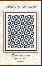 BLUE GARDEN Quilt Pattern MS 1308 by Minick & Simpson