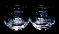 O'MARA'S IRISH COUNTRY CREAM POTBELLY COCKTAIL GLASSES (2) ~ EUC ~ FREE PRIORITY