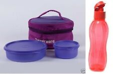 Tupperware Classic Lunch Box with Bag and one 750ml Flip Top Water Bottle