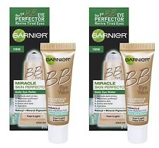 2 x Garnier Skin BB Eye Skin Perfector Eye Roller, Fair/Light, 0.54 Oz Total