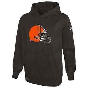 Cleveland Browns New Era Stadium Logo Pullover Performance Hoodie - Brown