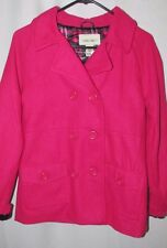 NWT Cherokee girls 14-16 hot pink poly wool winter pea coat Jacket
