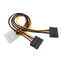 4 Pin IDE Male to 2 port Female SATA Power Cable