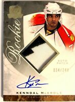 2008-09 Upper Deck The Cup Autograph Patch Rookie Card Kenndal McArdle RC /249