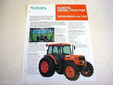 Kubota M8200/M9000 Diesel Tractor with Cab Literature