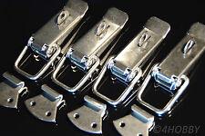 4x Edelstahl Spannverschluss Abschließbar 130mm Kisten/Box-Hebel-Verschluss