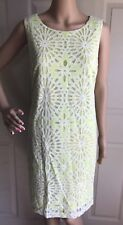 BELLE BADGLEY MISCHKA Womens DRESS Size 12 LACE White Lime Green