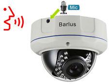 Security Camera Barlus  IK10 Poe IP Dome Camera Vandal Proof 1080p Camera