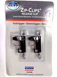 Rupp Zip-Clips Boat Fishing Outrigger Release Clips CA-0106 - 2 in Pack - New