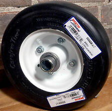 "8X3.00-4 Carefree Solid Tire & Wheel Deck Caster 1"" OCRB + 3/4"" Toro 13-3869"