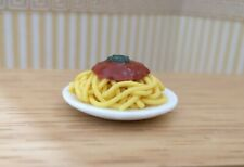 1/12th Scale Dolls House Plate of Spaghetti Bolognese.
