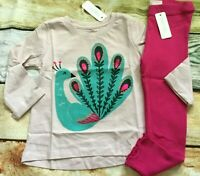 Gymboree Outfit Set 2T 3T Creative Types Peacock Top Rib Knit Leggings NWT