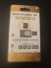 SONY 4GB Memory Stick Micro Media M2 + Duo Adapter PSP 1000 2000 3000 PSPGo NEW