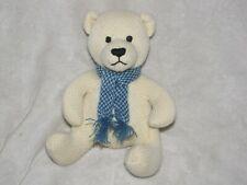 Vintage Baby Gap Stuffed Plush Sweater Knit Brannan Teddy Bear Cream Scarf