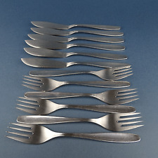 WMF Fisch Besteck • Modell Ascona • 12 tlg Messer Gabeln 6 Personen • Cromargan