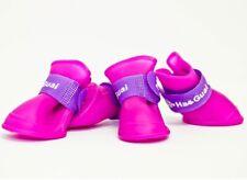 Pet Dog Light Weight Shoes Purple Plastic Rain Boot Anti-Slip Sole Strap Size: M