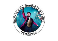 Personalised The Greatest Showman Birthday Party bag Thank You Stickers 24