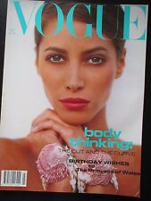VOGUE GB 7/1992 Christy Turlington SANTE D'ORAZIO Peggy Sirota PATSY KENSIT Tyen