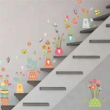 3D Vivid Nature Plant Flower Butterfly Window Wall Sticker Home Decor DIY Decals