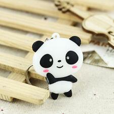 Silicone Cartoon Panda Keychain Keyring Bag Pendant Key Ring Chain Fashion