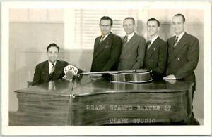 1947 SILOAM SPRINGS, Arkansas RPPC Real Photo Postcard KUOA RADIO Singing Group
