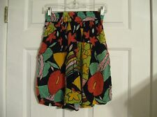 shorts green black yellow red jane ashley 24 inch waist
