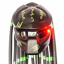 Pro Predator Custom Made Helmet Motorcycle Matt Black Green Novelty Casco Rare