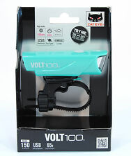 CatEye Volt 100 Bicycle Front Light, USB Rechargeable - HL-EL150RC,Celeste Green