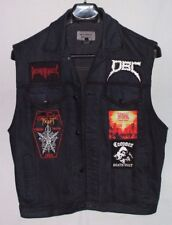 Heavy Metal Denim Battle Vest Kutte Custom Dyed Patches Science Fiction Thrash